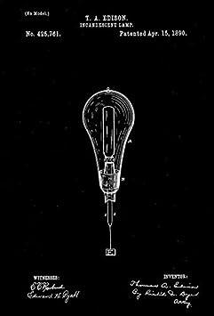 Incandescent Lamp 1890 Edison A T Patent Art Magnet
