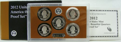 2012 Mint - 2012 S US Mint Quarters Proof Set OGP
