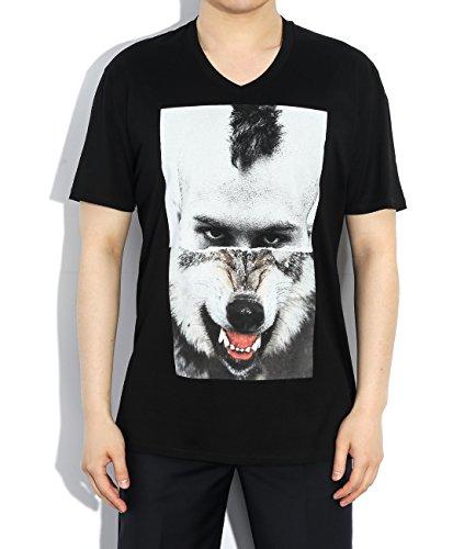 wiberlux-neil-barrett-mens-mohawk-wolf-hybrid-print-v-neck-t-shirt-xl-black
