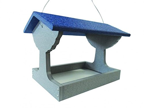 Backyard Nature GSFT200-B Green Solutions Recycled Fly Thru Feeder - Blue