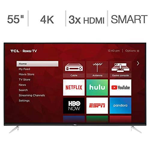 TCL 55S423 55″ Class (54.6″ Diag) 4K UHD Roku LED LCD