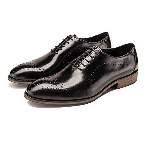 British NIUMJ in Uomo Fashion Scarpe da Uomo Traspirante Pizzo Black da Business aqq1T8A