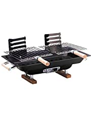 """Marsh Allan Hibachi Charcoal Grill 17"""" x 10"""" (Discontinued by Manufacturer)"""