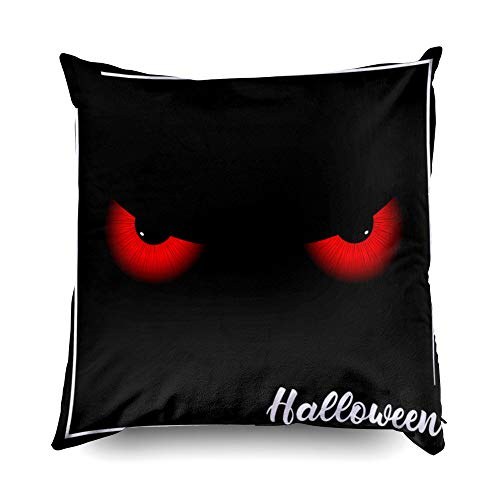 TOMWISH Hidden Zippered Pillowcase Halloween Halloween Poster Good t Shirt Designs 16X16Inch,Decorative Throw Custom Cotton Pillow Case Cushion Cover for Home Sofas,bedrooms,Offices,and More