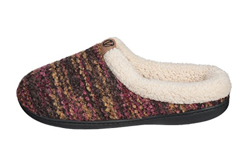 Joan Vass Fuax Wool Womens Sweater Knitted Warm Winter Clog Slippers Lime E3Ro16