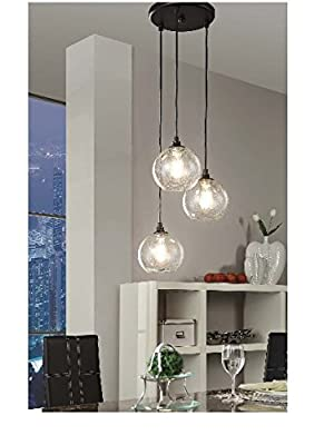 Uptown 3-light Glass Modern Clear Globe Cluster Pendant