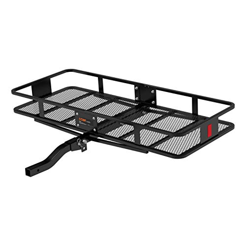 CURT 18153 Basket Trailer Hitch Cargo Carrier, 500 lbs. Capacity, 60-Inch x 23-1/2-Inch x 5-1/2-Inch, Fits 2-Inch Receiver