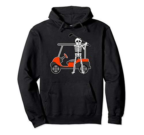 Halloween Golfer Skeleton Hoodie | Funny Golfing Gift ()