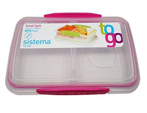 Sistema BPA-Free Small Split Reusable Food Storage Container, 11.8 oz, Colors Vary