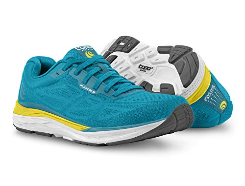 Topo Athletic Women's FLI-Lyte 3 Road Running Shoe, Aqua/Yellow, Size 8 (Best Stable Running Shoes)