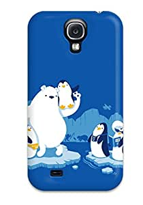 Durable Defender Case For Galaxy S4 Tpu Cover(polar Bear And The North Pole)