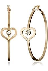 Betsey Johnson Heart Hoop Earrings