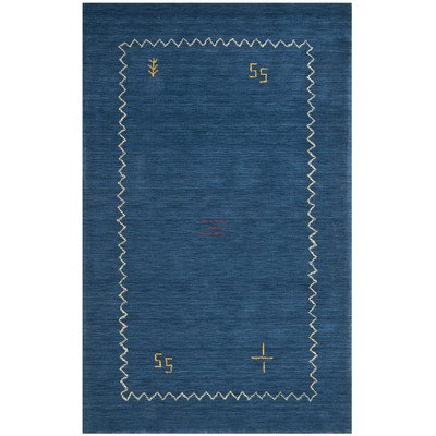 Blue Wool Rug (Safavieh Himalaya Collection HIM583A Handmade Blue Premium Wool Area Rug (4' x 6'))