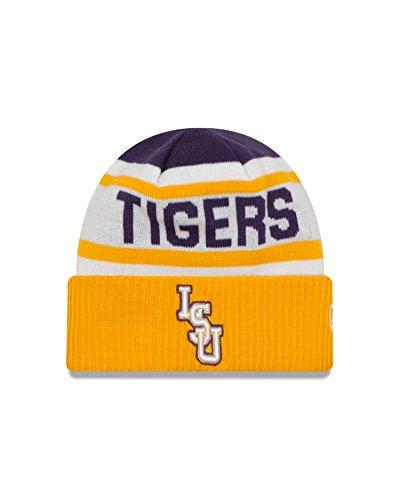 New Era NCAA LSU Tigers Biggest Fan 2.0 Cuff Knit Beanie, Yellow, One Size (New Era Beanie)