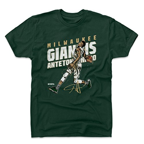 5d2dcdc9d 500 LEVEL Giannis Antetokounmpo Cotton Shirt XX-Large Forest Green -  Vintage Milwaukee Basketball Men s Apparel - Giannis Antetokounmpo Slam D  WHT