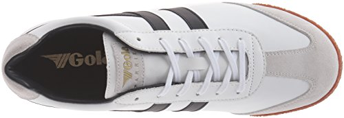 Gola Mens Sneaker Moda In Pelle Di Moro Bianco / Nero / Gomma