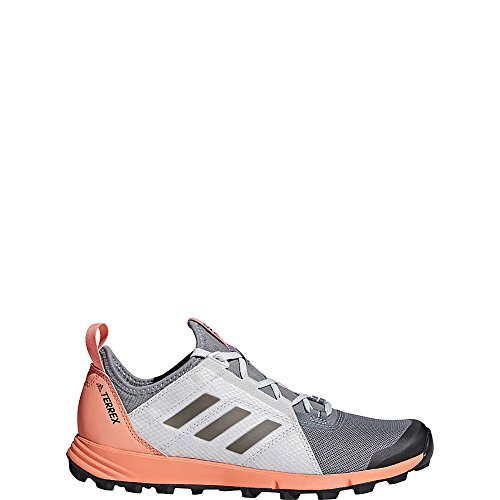adidas outdoor Womens Terrex Agravic Speed Shoe Grey Three, Black, Chalk Coral