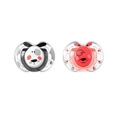 Tommee Tippee Closer to Nature Fun Style Baby Pacifier, 0-6mo – 2pk (Colors & Designs Vary)