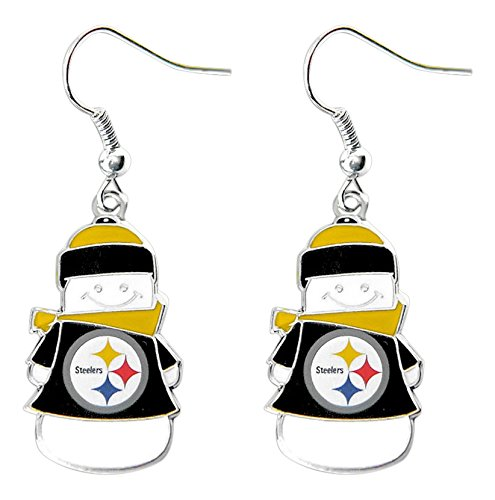 (NFL Pittsburgh Steelers Snowman Earrings)