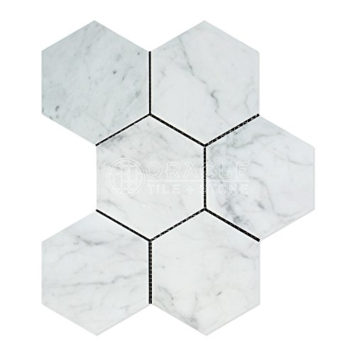 carrara-white-italian-bianco-carrara-marble-5-inch-hexagon-mosaic-tile-honed