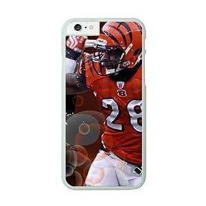 NFL iPhone 6 Plus White Cell Phone Case Cincinnati Bengals QNXTWKHE1137 NFL Phone Case Cover 3D Design