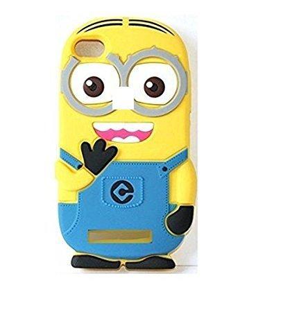 innovative design dcfce d3a48 Aloin® 3D Cartoon Minion Rubber Silicon Back Case Cover for Vivo V7 Plus -  Yellow
