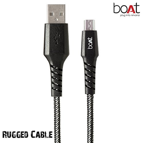 boAt Rugged Extra Tough Unbreakable Braided Micro Usb 1.5 Meter cable