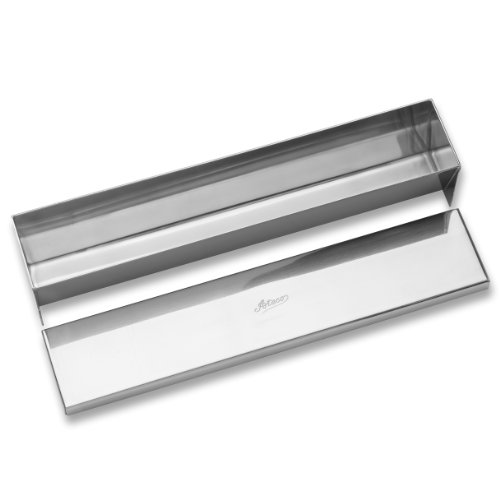 (Ateco 4920 Stainless Steel Terrine Mold with Cover, Flat Bottom, 11.75 by 2.25-Inches)