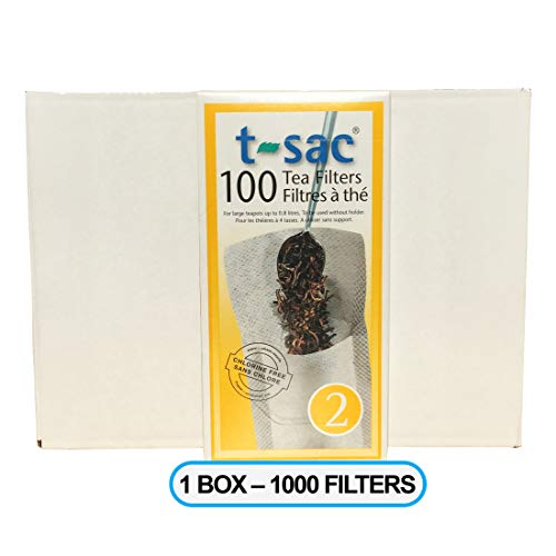 Modern Tea Filter Bags, Disposable Tea Infuser, Size 2, One