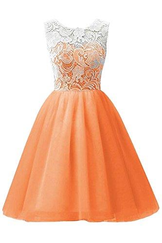 orange 70s dress - 7