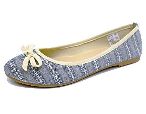 Damen Flach Slipper Dolly bequem Ballet Ballerina Pumps Works Mädchen Schuhgrößen 3-9
