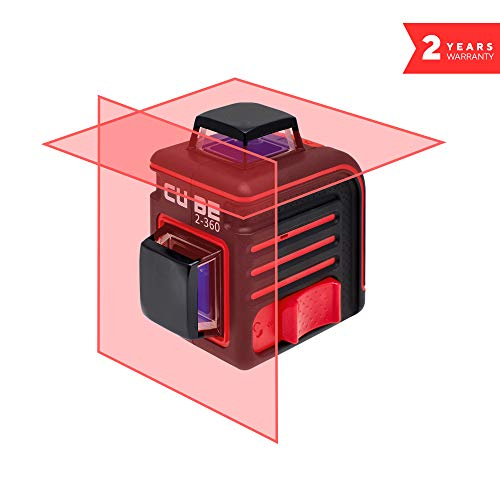ADA Cube 2 x 360 Basic Edition, Laser Level, Crossline Self-Leveling Laser Level 20 Meters (65 feet) and 70 Meters (229 feet With Laser Detector) (А00447)