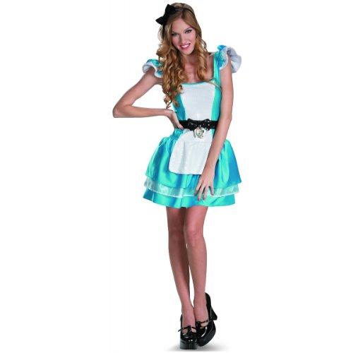 Disguise Walt Disneys Alice In Wonderland Glam Womens Adult Costume, Blue/White, Large/12-14]()