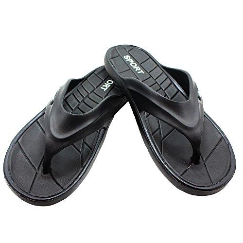 Hommes Caoutchouc Sandale Pantoufle Confortable Douche Plage Chaussure Glisser Sur Flip Flop Bk Thong