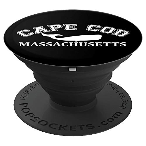 Cape Cod Massachusetts Whale Silhouette Vintage Distressed PopSockets Grip and Stand for Phones and - Whales Cod Cape