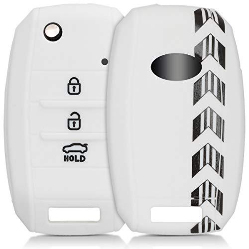 kwmobile Car Key Cover for Kia - Silicone Protective Key Fob Cover for Kia 3-4 Button Car Key - - Kia Motors Sorento
