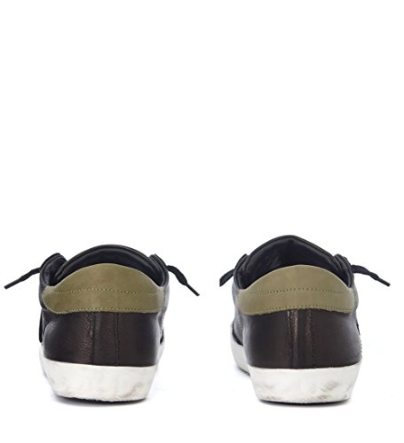 Philippe Model Sneaker Paris In Pelle Nera E Verde Wit