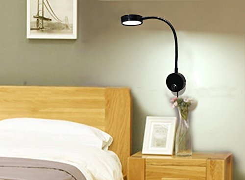 Wall Lights With Flex And Plug : Flexible LED Wall Lamp, 5W Gooseneck Wall Mount Sconce Reading Light with Switch and Plug in ...