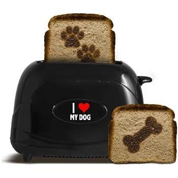 Pangea Brands TSTE-PET-ILMD 2-Slice Pet Emblazing Toaster, I Love My Dog