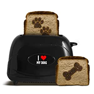 Pangea Brands TSTE-PET-ILMD 2-Slice Pet Emblazing Toaster, I Love My Dog