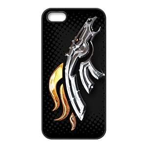 NFL iPhone 5 5s hard case Denver Broncos theme back shell 1 piece