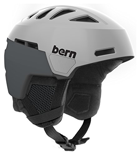 Bern Men's Heist Helmet (Satin Grey with Black Liner, Large)