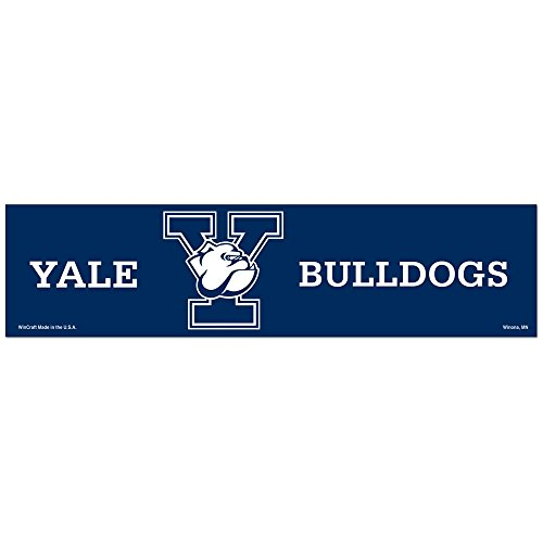 Amazon com ncaa yale university wcr25596012 bumper strip 3 x 12 sports fan decals sports outdoors