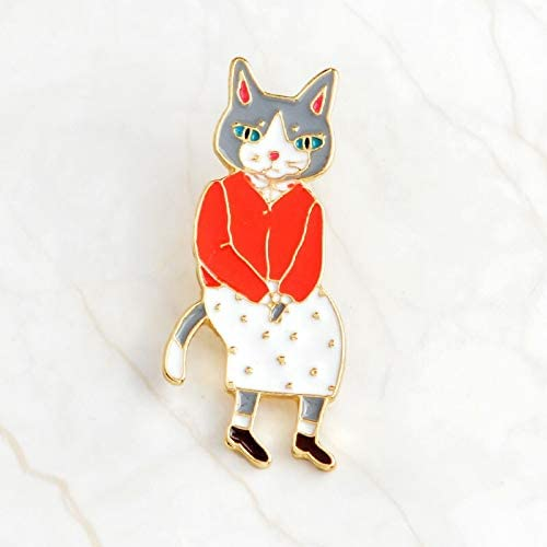 Rabbit//Fox//Cat Brooch Couple Lover Enamel Pins Badge Hat Backpack Jewelry Gift
