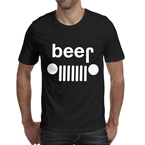 - T Shirts Men Crewneck Short-Sleeve Beer Off-Roading Party Spoof Drinking Tee Slim-Fit Cotton Shirts Friendship Tops