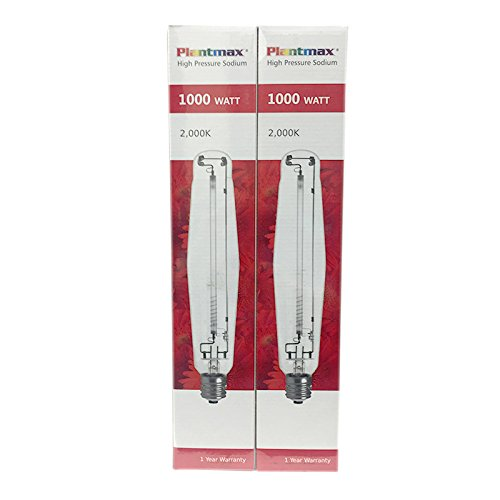Plantmax 1000 Watt High Presure Sodium Bulb 2 PACK