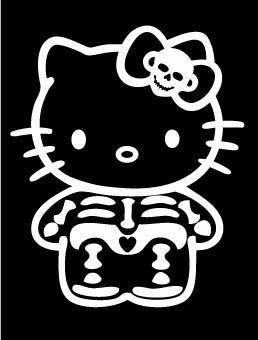 Hello Kitty Skeleton PREMIUM Decal 5