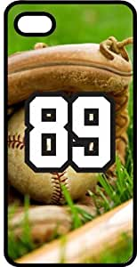 Baseball Sports Fan Player Number 89 Black Rubber Decorative iPhone 6 Case