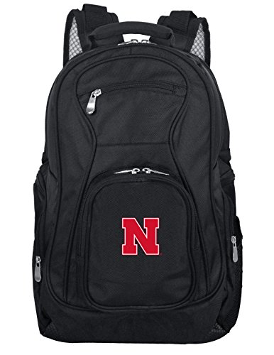 Denco NCAA Nebraska Cornhuskers Voyager Laptop Backpack, 19-inches, Black