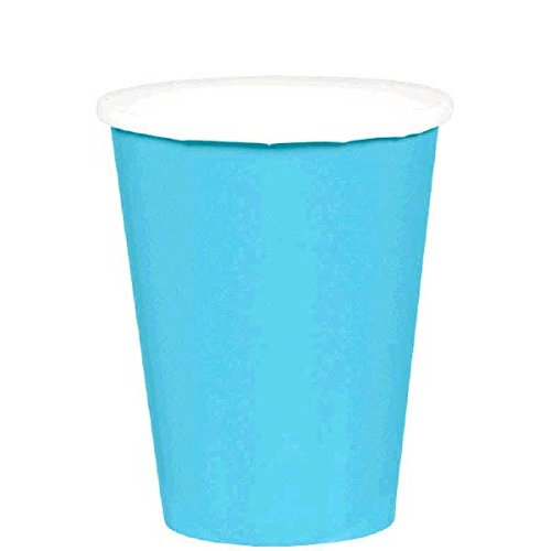 Amscan Caribbean Blue Paper Cups, 9 Oz., 20 Ct. -